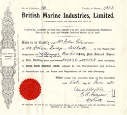 British Marine Industries, Limited. - London, England 1930