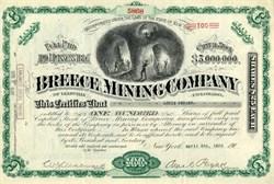 Breece Mining Company - Leadvllle. Colorado 1936