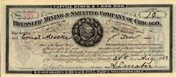 Bressler Mining & Smelting Company of Chicago - Illinois 1883