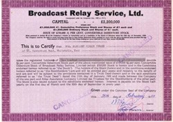 Broadcast Relay Service - 1949 England