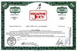 Broadway Joe's - Joe Namath 1969 - New York Jets Super Bowl Hero