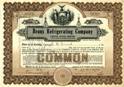 Bronx Refrigerating Company - New York 1917