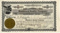 Bradshaw Realty Company ( signed by John R. Cahill ) - San Francisco, California 1931