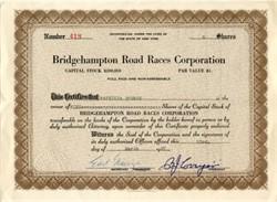 Bridgehampton Road Races Corporation - New York 1957