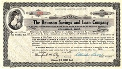 Brunson Savings and Loan Company - Columbus, Ohio 1956