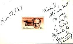 Brandon Tartikoff Autograph Note - 1987