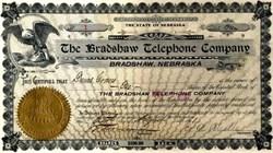 Bradshaw Telephone Company - Certificate #1 - Nebraska 1901