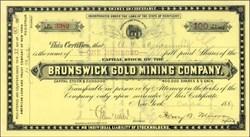 Brunswick Gold Mining Company - Kentucky 1889