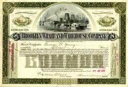 Brooklyn Wharf and Warehouse Company - New York 1896