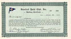 Branford Yacht Club, Inc  Note - Connecticut 1946