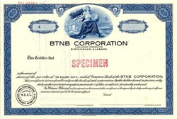 BTNB Corporation (Now SouthTrust Corporation )  - Birmingham, Alabama 1971