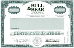 Bull & Bear Group, Inc. - New York 1982