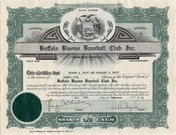 Buffalo Bisons Baseball Club, Inc. - New York 1955
