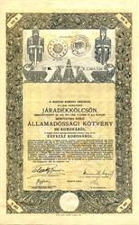 Kingdom of Hungary  Bond 100 Crowns - WWI Bond - Budapest,  Hungary 1915