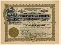 Bullfrog Colorado Mining Company - Bullfrog District, Nevada, and Pine Creek District Gilpin County, Colorado -  Territory of Arizona 1905