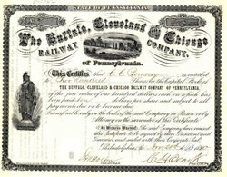 Buffalo, Cleveland & Chicago Railway Company 1880 ( Early Nickel Plate )