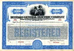 Buffalo General Electric Company Gold Bond - New York 1926