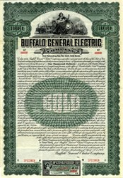 Buffalo General Electric Company - $1000 Gold Bond Certificate - New York 1909