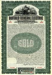 Buffalo General Electric Company - $1000 Gold Bond Certificate - New York 1909