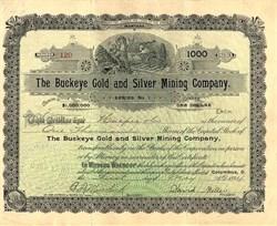 Buckeye Gold and Silver Mining Company - Montana 1894