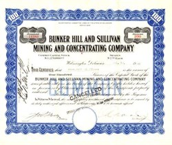 Bunker Hill and Sullivan Mining and Concentrating Company - Idaho 1945
