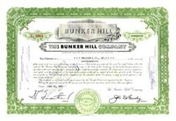 Bunker Hill Company - Delaware 1960