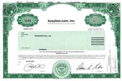 Busybox.com, Inc. (Dot Com Scam)  - Delaware 2001