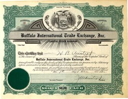 Buffalo International Trade Exchange Issued - New York 1932