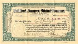 Bullfrog Jumper Mining Company - Territory of Arizona 1905