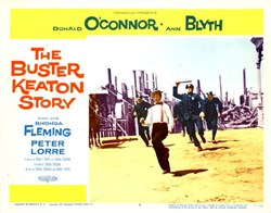 The Buster Keaton Story Lobby Card Starring Donald O'Conner and Ann Blyth - 1957