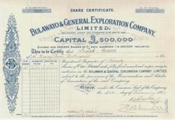 Bulawayo & General Exploration Company 1904