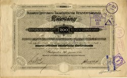 Budapest Liptotvarosi Takarekpenztar  Reszvenytarsasag - Budapest, Hungary 1918