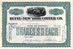 Butte - New York Copper Company - South Dakota 1910