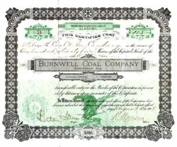 Burnwell Coal Company 1909 - Birmingham, Alabama