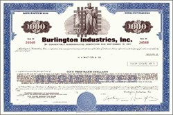 Burlington Industries Incorporated - Pre Bankruptcy