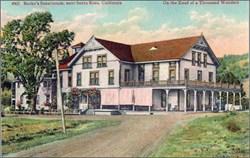 Burke's Sanatorium, near Santa Rosa, California Postcard