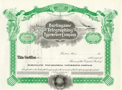 Burlingame Telegraphing and Typewriter Company 1908