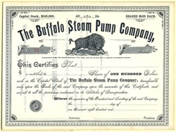Buffalo Steam Pump Company - 1880's