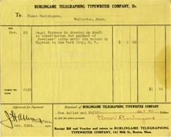 Burlingame Telegraphing Typewriter Company signed by Elmer Burlingame - Wollaston Massachusetts 1910