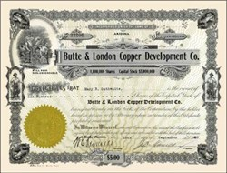 Butte & London Copper Development Co. 1920