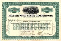 Butte - New York Copper Company 1914