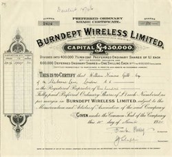 Burndept Wireless - 1925