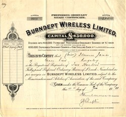 Burndept Wireless Limited, - England 1925
