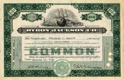 Byron Jackson Company - Delaware 1935