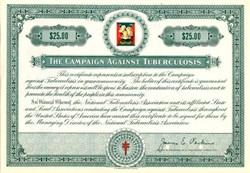 Campaign Against Tuberculosis Specimen Certificate - 1950