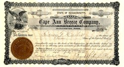Cape Ann Breeze Company Newspaper - Gloucester, Massachusetts 1901