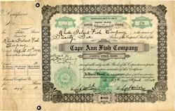 Cape Ann Fish Company - Rhode Island 1914