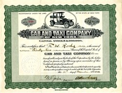 Cab and Taxi Company of New York (Pre Uber) - 1910