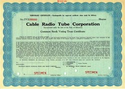 Cable Radio Tube Corporation 1939