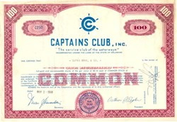 Captains Club, Inc. - Delaware 1960